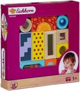 Eichhorn 100002240 - Color Holz-Soundbausteine, 12-teilig, Holz bunt bedruckt - Klangbausteine -