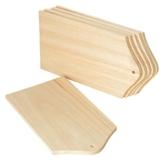 Frühstücks-Brettchen, 6 Stück, aus Holz, ca. 21 x 12 cm, von VBS -