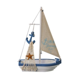 Generic Nautischen / Maritim Segelboot Mini Holz Segelschiff Tisch Geschenk Dekor - Anker -