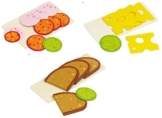 Goki Brot Wurst und Käse aus Holz für Kaufladen oder Spielküche -