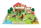 Großer Pferdehof / Ponyhof aus Holz Holzspielzeug Spiel Kinderzimmer *NEU*OVP* -