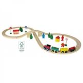 Holzeisenbahn Set 40-teilig inkl. Schienen -