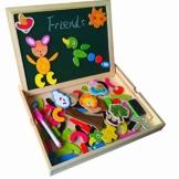 Holzpuzzle Tafel Magnetisches Legespiel Lernspiel Doppelseitige Intelligentes Spiel ab 3 jahre Kinder -