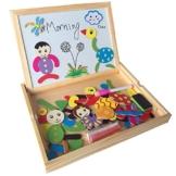 Holzspielzeug Tafel aus Holz Intelligentes Spiel Magnetisches Legespiel Lernspiel Bunt Tier Puzzle für ab 3 Jahren -