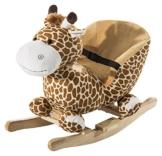 homcom 330-011 - Schaukelpferd Kinder Plüsch Giraffe -