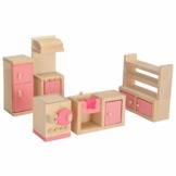 Hrph Wooden Miniature Dollhouse-Möbel Spielzeug Set Schlafzimmer Küche Abendessen Zimmer Badezimmer Wohnzimmer Pretend Play-Spielzeug für Mädchen -
