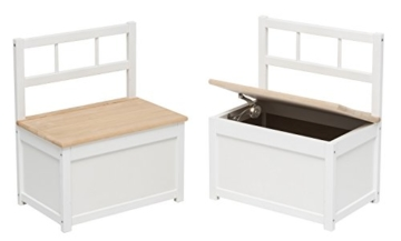 Impag Kindersitzgruppe aus europäischem Buche-Hartholz 1 Tisch, 2 Stühle, 1 Truhenbank mit Deckelbremse, 4 Varianten wählbar Anni -