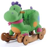 Labebe - Kinder Schaukelpferd - (Dinosaurier mit Rädern) -