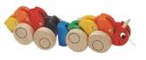 lustige Raupe als ZIEHTIER - Ziehfigur / Nachziehtier - aus Holz - bunt Tier mit verschiedenen einzelnen Gliedern - Holzspielzeug Motorikspielzeug - Holzspiele - Nachziehtiere - Kleinkinder -