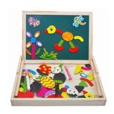 Magnetisches Holzpuzzles Puzzles Zeichnung Holzbrett Spielzeug Lernspielzeug Staffelei Doodle Lernspiel Spiel fürKinderJungs Mädchen 3 45 JahrenAlt -