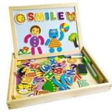 Magnetisches Spielzeug Magnet Doodle aus Holz Zeichnung Maltafel für Kinder ab 3 Jahren (Style B) -
