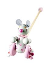 Maus Schiebespielzeug Holz Lauflern Schiebe Spielzeug Holzspielzeug für Kinder Mädchen -