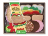 Melissa & Doug - 13954 - Filz-Lebensmittel-Set für Belegte Brote -