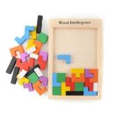 Peradix Tetris Tangram Holzpuzzles Lernspielzeug Intelligenz Pädagigisches Spielzeug für Kinder ab 3 Jahre -