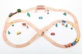 point-kids Holzeisenbahn Set 49 Teile, Zug komplett Set Holz -