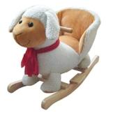 Schaukelpferd Schaukel Plüsch Schaukeltier Stuhl Sound Baby Kinder (Schaf 215116) -