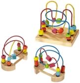 Small Foot by Legler Motorikschleife aus Holz, geeignet für Kinder ab 1 Jahr, drei verschiedene Schleifen, zur Förderung der Feinmotorik -