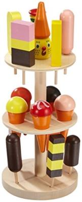 Small Foot Company 5261  Eisständer aus Schicht- und Massivholz, mit Eis in 15 verschiedenen Sorten , für den Kaufladen  design -