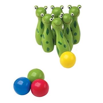 Small Foot Company 8166 - Boule Spiel - Kegel - Frosch -