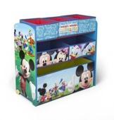 Spielzeugregal - Standregal - Aufbewahrungsregal 6 Boxen mit Motivauswahl (Mickey Mouse) -
