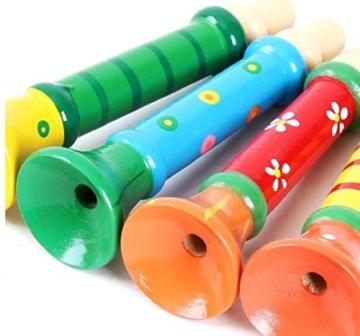 Spielzeug,WINWINTOM Multi-Color-Babykinder aus Holz Horn Hooter Trompete Instrumentalmusik Spielzeug -