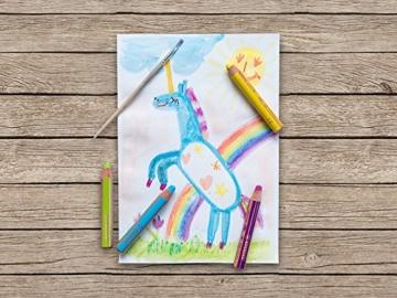 STABILO woody 3 in 1 - Buntstift, Wasserfarbe und Wachsmalkreide in einem- 10er Set - mit Spitzer -