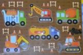 Steckpuzzle aus Holz Baustelle -