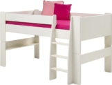 Steens for Kids Halbhochbett, MDF weiß lackiert, FSC zertifiziert, 90x200cm Liegefläche -