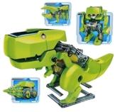 Tonsee DIY montieren 4 In 1 pädagogische Solar-Roboter Bohren Maschine Dinosaurier Insekt Kit -