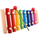 Tonsee Kinder Baby Spielzeug Xylophon Weisheit Entwicklung hölzerne Musikinstrument verbessern Kind empfindlich auf Farben Klänge 22.5cmx12.5cmx2.5cm -