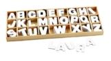 VBS Holz-Buchstabensortiment, 156 weiße Buchstaben -