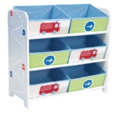 Worlds Apart 66EEV01 Kommode mit 6 Aufbewahrungsboxen für Jungen ab 18 Monate -